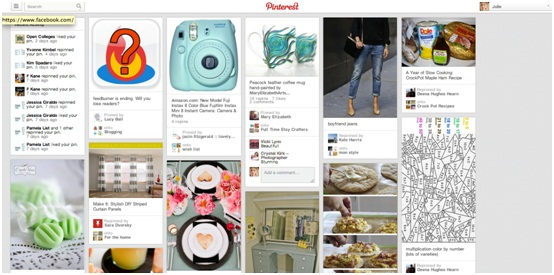 pinterest newsfeed